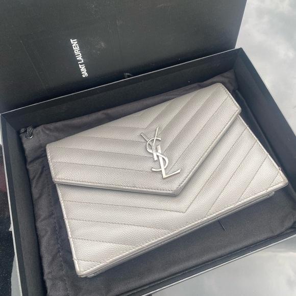 Yves Saint Laurent YSL wallet on chain bag